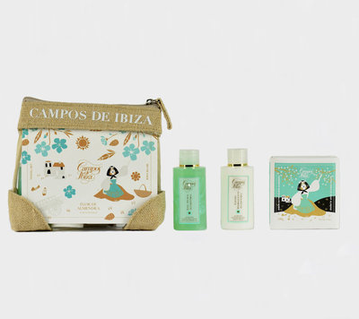 Flor de Almendra travel set bpdymilk, showergel and soap