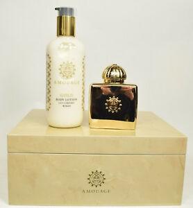 Gold Woman limited wooden giftbox Eau de Parfum 100 ml and 300 ml Bodylotion
